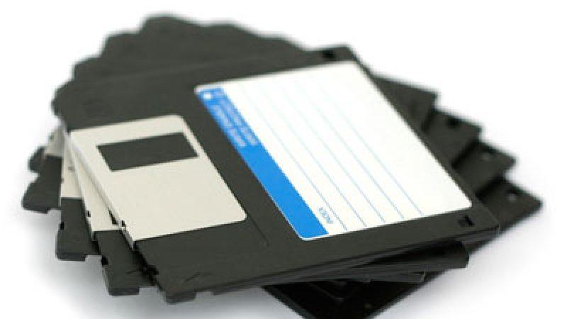 Les disquettes 3,5 pouces c'est fini