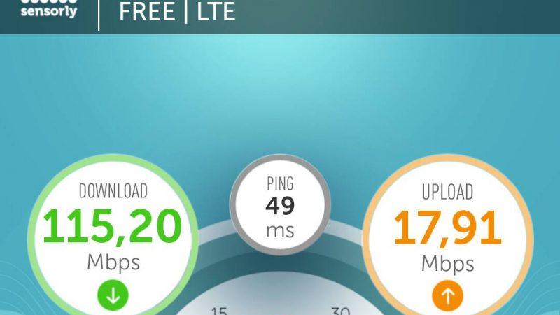 4G Free Mobile: record battu à Nancy avec 115.20 Mbps