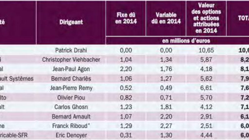 Numericable-SFR : Patrick Drahi et Eric Denoyer dans le Top 10 des dirigeants les mieux rémunérés en France