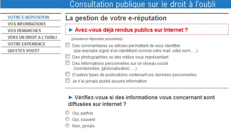 La CNIL lance une consultation des internautes sur le « droit à l'oubli »