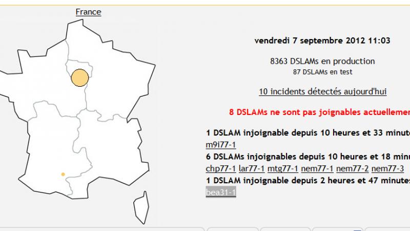 Incident réseau: 36 DSLAMs indisponibles en Normandie depuis 12 heures