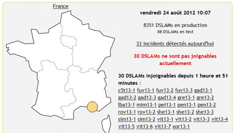 Free : Panne des DSLAM dans les Bouches du Rhône