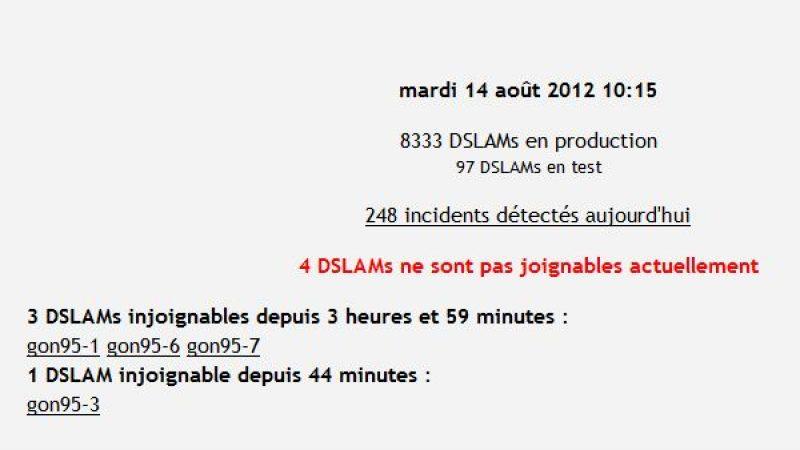 Free : Panne sur les DSLAM en région parisienne