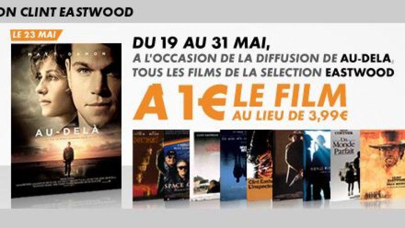 Vod : Les films de Eastwood à 1€ sur Canalplay