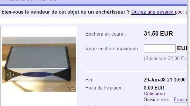 [MàJ] Freebox HD à vendre sur Ebay !