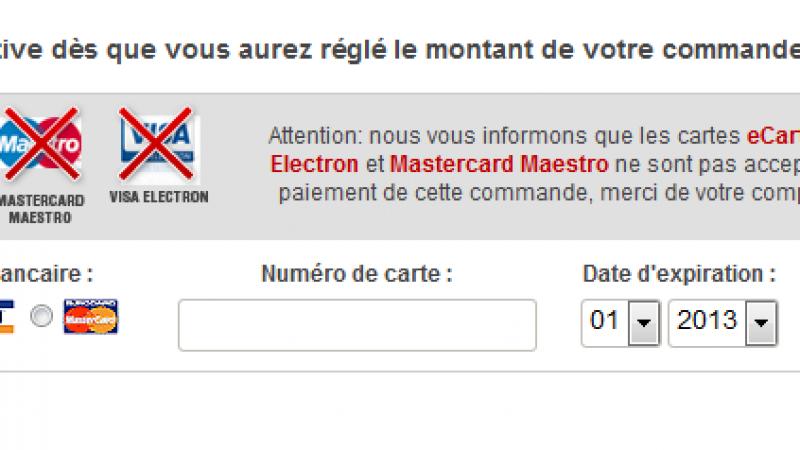 """Free Mobile n'accepte plus les cartes """"Visa Electron"""" pour ses souscriptions en ligne"""