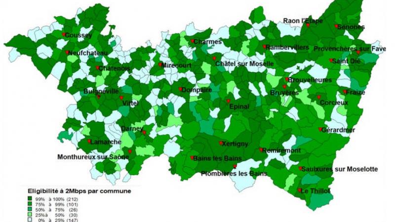 Le plan de déploiement très haut débit Vosgien