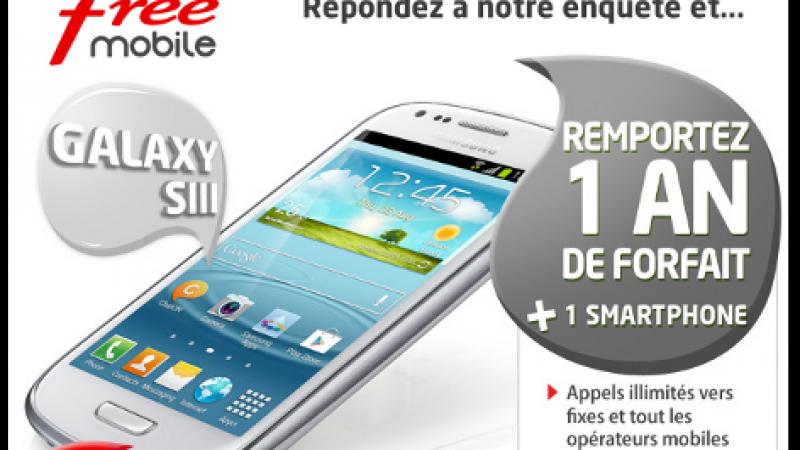 [MàJ] Enquête : 1 an d'abonnement à FreeMobile et un Samsung Galaxy S3