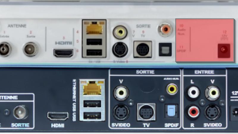 Les entrées d'acquisition audio/vidéo disparaissent de La Freebox Crystal