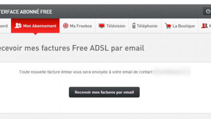free interface gestion mon compte mes factures