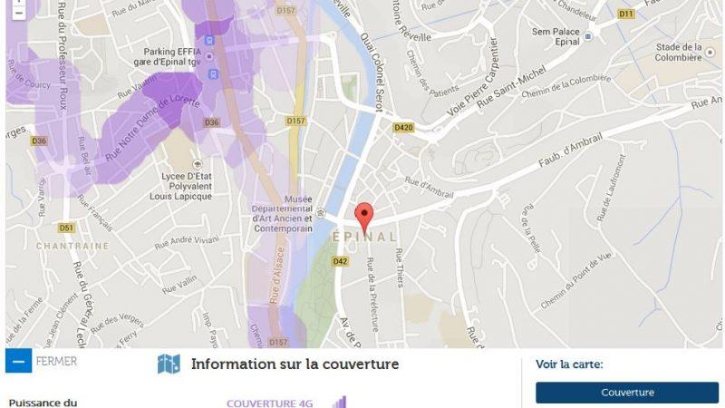 Couverture et débit 4G Free Mobile : Focus sur Epinal