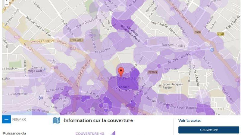 Couverture et débit 4G Free Mobile : Focus sur Epinay-sur-Seine