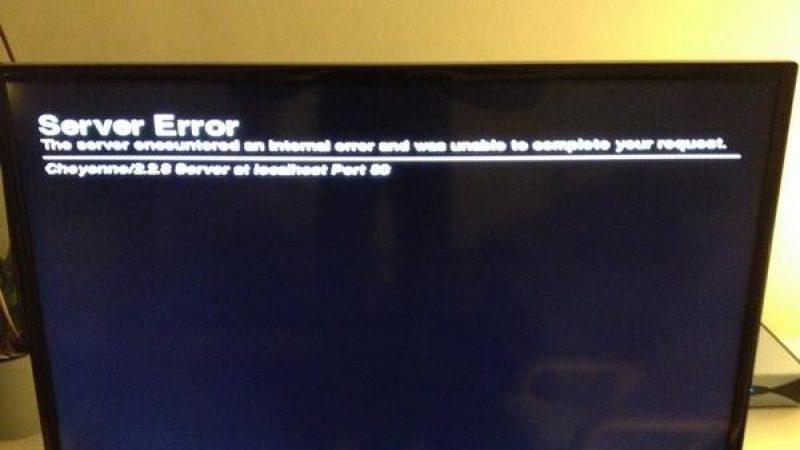 Problème en cours sur Freebox : Server Error