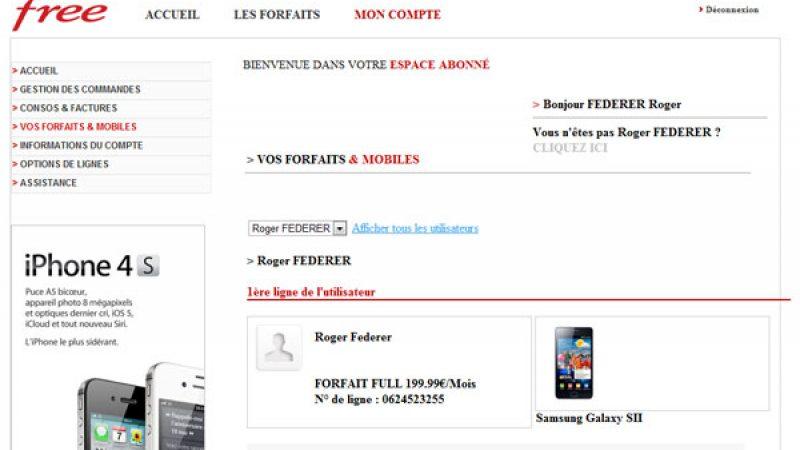 Découvrez l'espace abonné Free Mobile tel qu'il est disponible dans le cache Google