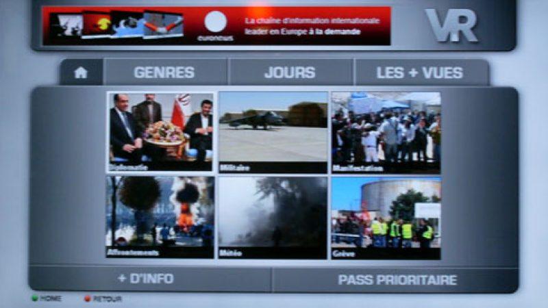 Le service de catch-up TV d'Euronews est lancé sur la Freebox