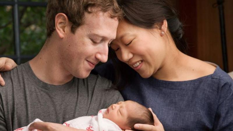 Mark Zuckerberg : un bébé et un don de 99% de ses actions Facebook