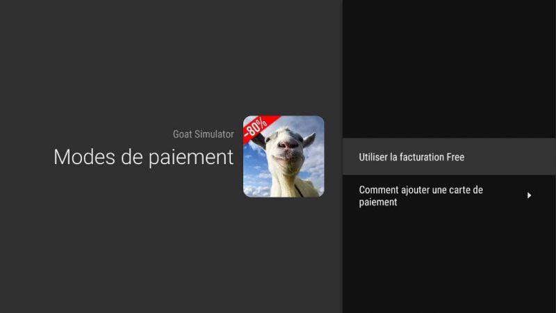 Nouveau : lancement du paiement sur la facture Free, pour les achats réalisés sur la Play Store de la Freebox Mini 4K