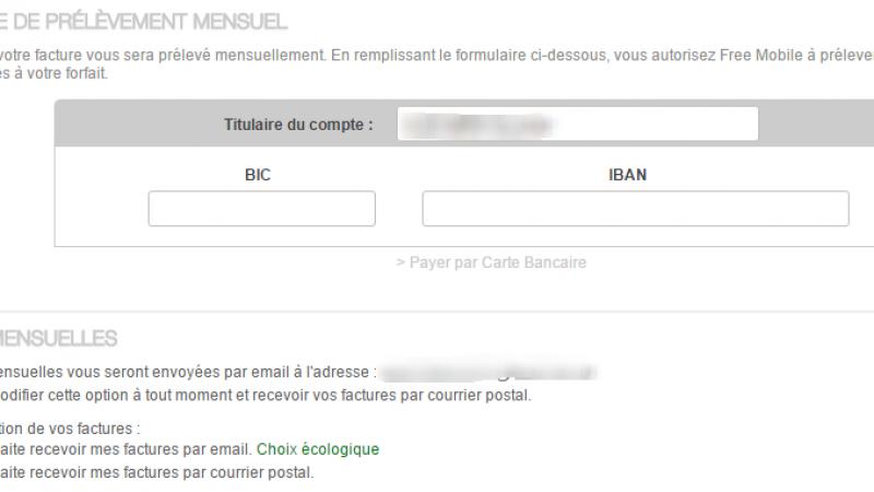 Nouveau : Free Mobile propose maintenant l'envoi gratuit d'une facture par courrier postal