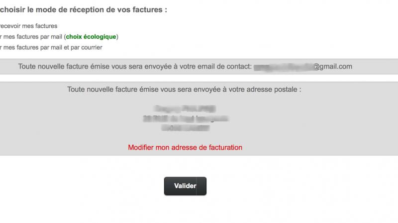 Nouveau : Free propose maintenant l'envoi gratuit de la facture Freebox par courrier