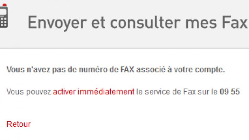 La fonction Fax de la Freebox doit désormais être activée par l'abonné