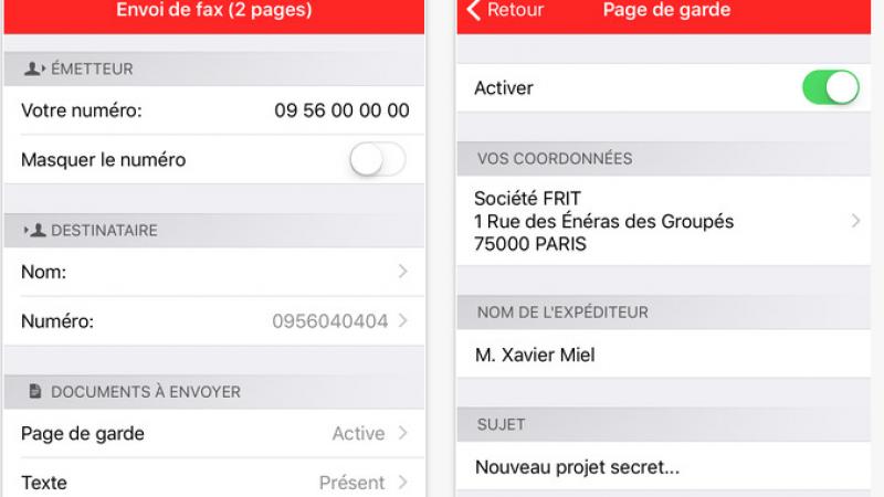 Nouvelle mise à jour pour Freebox Fax sur iPhone qui devient « Fax for Freebox »