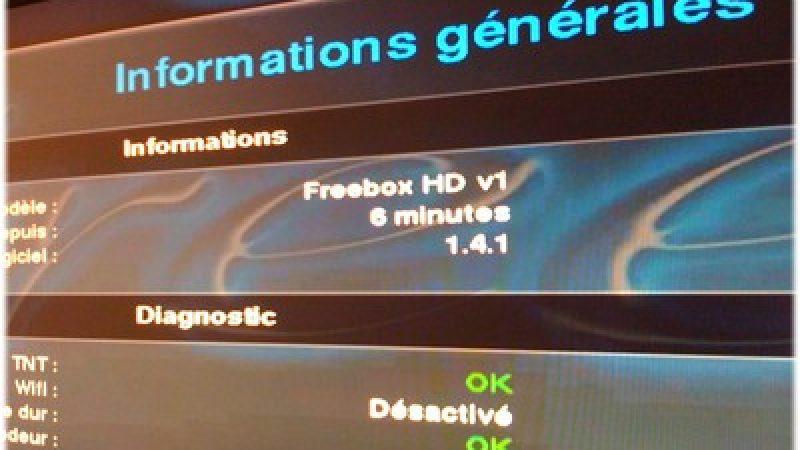 Nouveau firmware Freebox HD