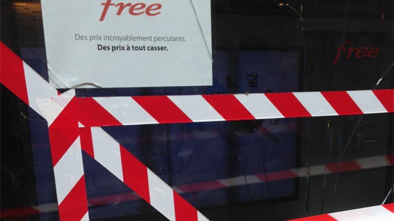 Free se fait casser la vitrine de son Free Center bordelais, mais garde le sens de l'humour !