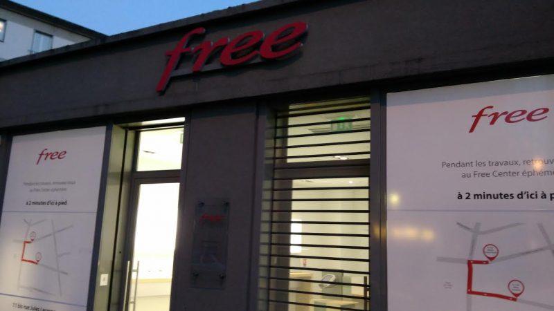 Free installe un Free Center éphémère au Havre, pendant la durée de travaux
