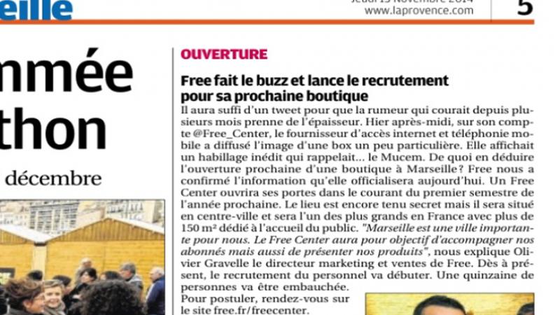 Le Free Center de Marseille sera un des plus grands Free Center de France