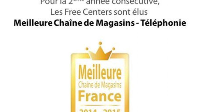 """Les Free Centers élus """"meilleure chaîne de magasins de téléphonie"""""""