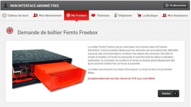 [MàJ] Profitez d'une femtocell totalement gratuite : Free offre « exceptionnellement » les frais de port