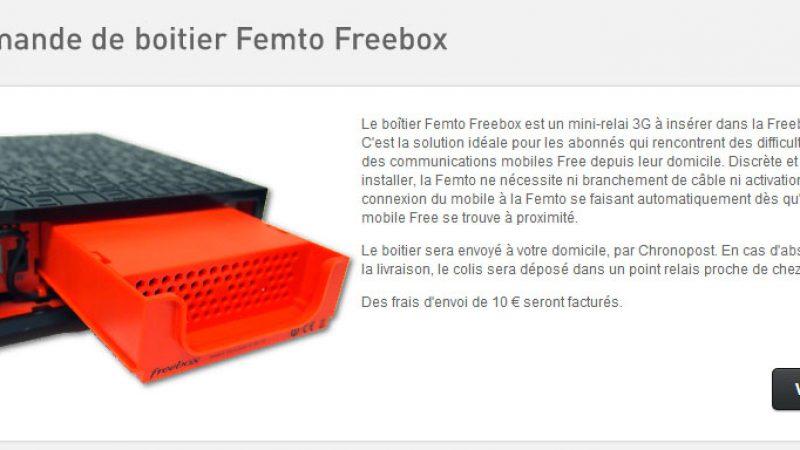 Commande des boitiers femto Freebox : C'est parti !
