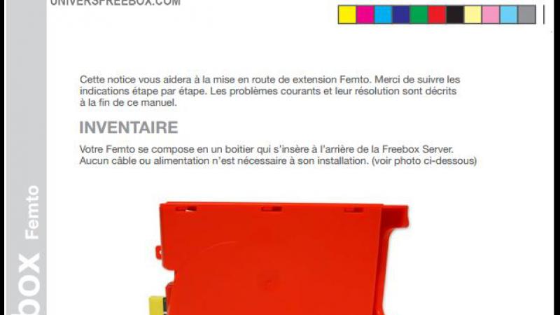 Découvrez, en avant-première, la notice d'utilisation de la Femto Freebox