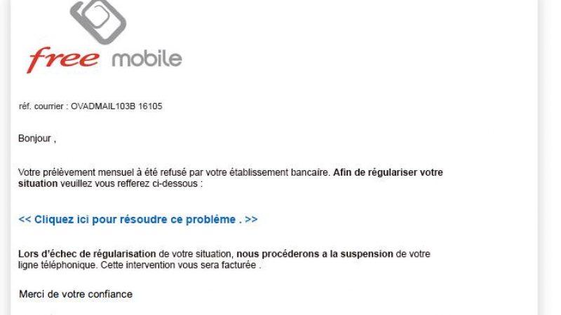 Nouvelle attaque phishing visant les abonnés Free Mobile
