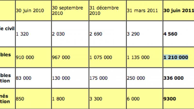 Fibre :  Seulement 1,2 M logements éligibles sur les 4 M prévus pour fin 2012