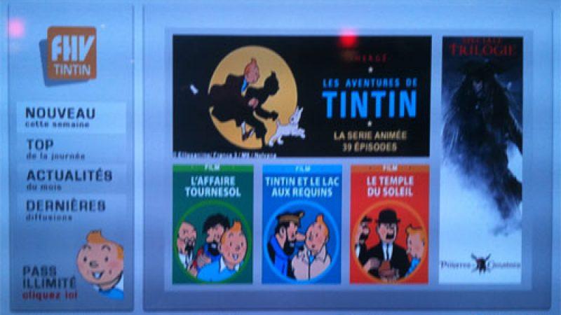 Free profite de l'actualité autour du dernier Spielberg pour lancer FHV Tintin