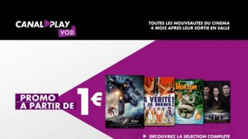 Freebox : Canalplay lance une promo avec des films à partir de 1€