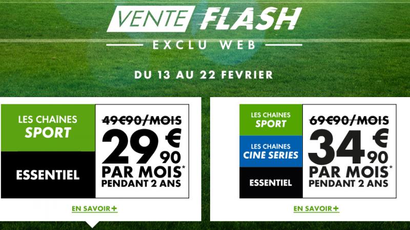 Canal lance une vente flash, avec toutes les chaînes sport et cinéma à moitié prix