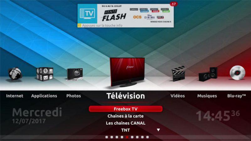 Vente Flash Canal+ et Cinéma Séries sur la Freebox
