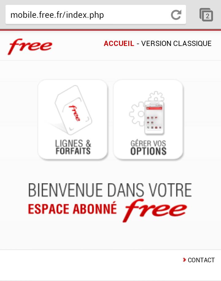 Espace client Free pro