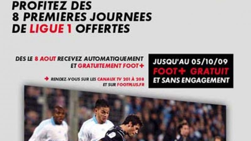 Les huit premières journées de Ligue 1 offertes aux abonnés CanalSat