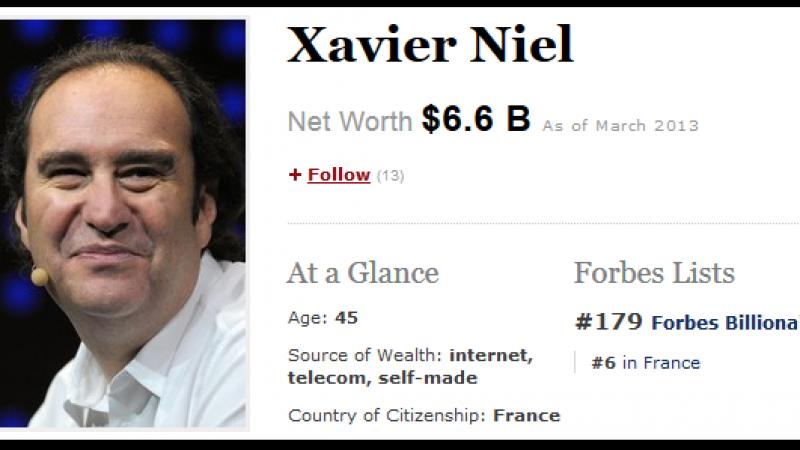 Forbes : Xavier Niel (Free), l'homme qui valait 5 milliards
