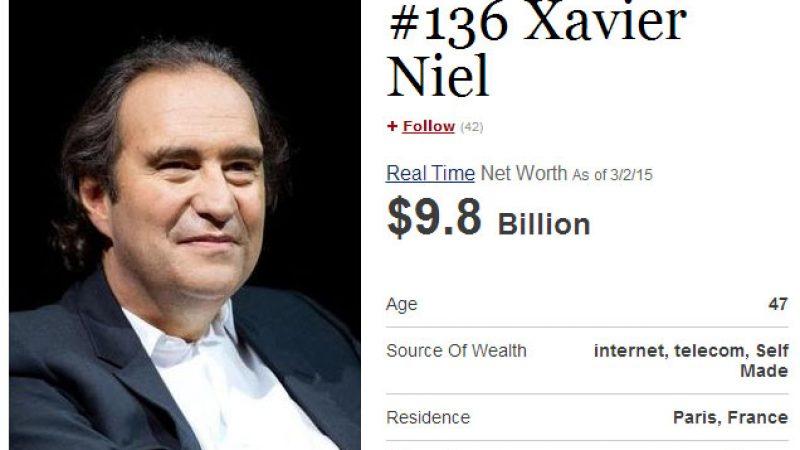 Classement Forbes des plus grosses fortunes mondiales : Xavier Niel grimpe un peu, Patrick Drahi beaucoup