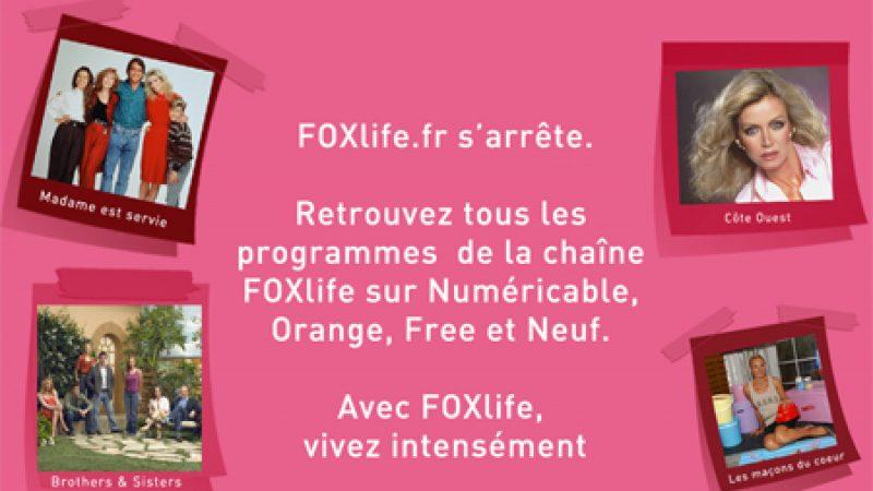 Si son site web s'arrête, la chaîne FOXlife continue !