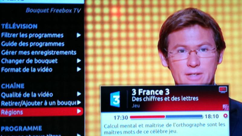 Freebox Player : Accèdez plus facilement aux déclinaisons régionales de France 3