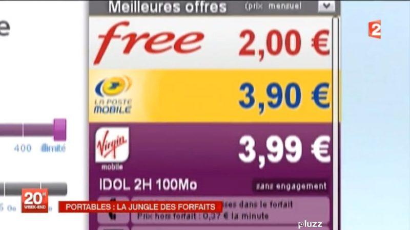 Le journal de France 2 consacre un reportage à la baisse des prix engendrée par Free Mobile