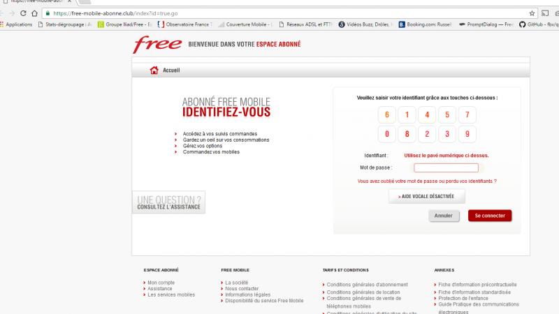 Phishing Free Mobile : un site pirate est référencé sur Google