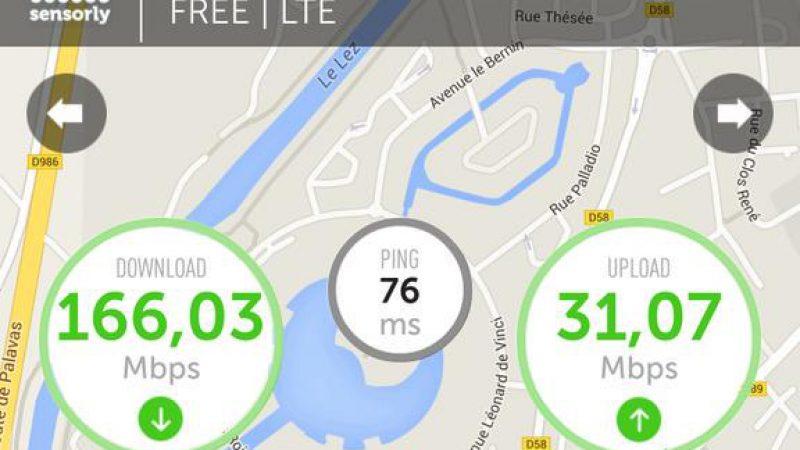 Free Mobile : nouveau record de débit sur Sensorly grâce à la 4G+