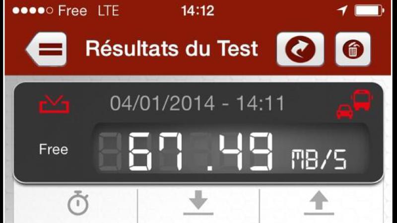 Découvrez les premiers tests de débit sur la 4G de Free Mobile avec un iPhone 5S