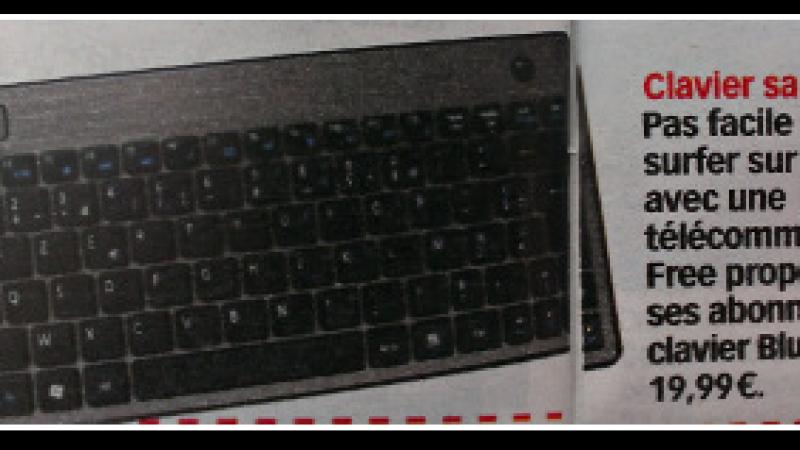 Free : un clavier Bluetooth pour la Freebox Révolution à 19.99 euros ?